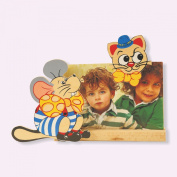 Dida - Photoframes Mouse Cat - Photo by wooden table with pets - frame for horizontal photo