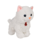 Sound Control Electronic Pet Electronic Toys Cat Robot Cat Interactive Toys Best Gift for Children White