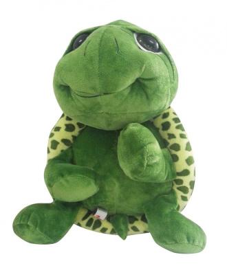 PeiGee 20CM Cartoon Plush Tortoise Lovely Green Big Eyes Turtle Soft Stuffed Animal Toy Great Birthday Gift for Kids