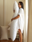 RohiLinen Maternity, Pregnancy, Bolster Long Support Pillow : Double Size 140cm Made in the UK