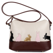 Women's Contrast Colour Leisure Animal Pattern Shoulder CrossBody Bags