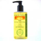 Patchouli Organic Face, Hand & Body Wash, Shower Gel, Liquid Soap, Handmade. Vegan. Natural Skin Care