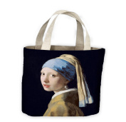 Johannes Vermeer Girl with Pearl Earring Tote Shopping Bag For Life