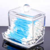 Acrylic Cotton Swabs Stick Balls Q-tips Cosmetics Make-up Holder Box Case Organiser Container