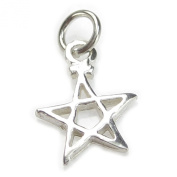 Pentacle SMALL sterling silver charm .925 x 1 Pentacles charms SWCHA78
