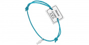Clio Blue Cord and 925 Silver Bracelet, Maman Je T 'aime, Turquoise, 4.5g