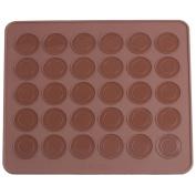 YIJIA Silicone Macaron macaroon Baking Sheet Mat Muffin DIY Chocolate Cookie Mould Mode - 30 Capacity