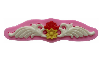 Silicone Mould Flowers Vines Border Decoration Cake Baking Cookie Cutters for Marzipan