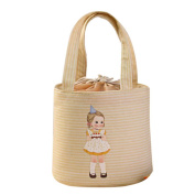 Oyedens Little Girl Pattern Bento Pouch Lunch Bags Thermal Cooler Insulated