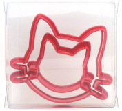 Cat Head Set of 2 Cookie Cutters, Biscuit, Pastry, Fondant Cutter