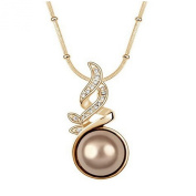 Pietra Flower Women's Alloy Pearl Leaves Necklace
