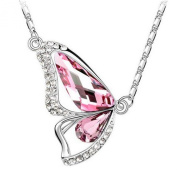 Pietra Flower Women's Alloy Colourful Butterfly Necklace
