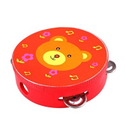 Icollect® Kids Musical Instruments Toy Tambourine Cute Hand Drum-1 pcs
