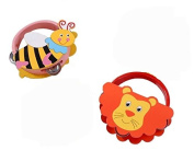 Icollect® Kids Musical Instruments Toy Tambourine Cute Animal Hand Drum- 2 pcs