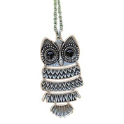 TOP Lady Women Vintage Silver/Copper Owl Pendant Necklaces Long Chain