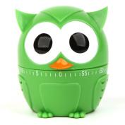 Owl Novelty Egg Timer for Kitchen Cooking Baking-Green Owl