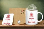 Keep Calm I'm A Doctor Mug And Matching Coaster Set