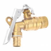 Home Garden 20mm Male Thread Dia Locked Faucet Water Tap