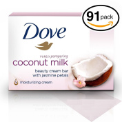 (PACK OF 91 BARS) Dove Unscented Beauty Soap Bar