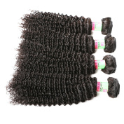 xuchang Eecamail Hair 3 Bundles Brazilian Curly Virgin Hair Weave 14 16 46cm Unprocessed Human Hair Extensions Natural Colour Can Be Dyed and Bleached