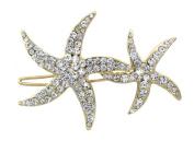 Double Starfish Flower Girl Bridesmaid HairPin Accessory Wedding Jewellery
