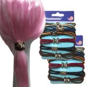 12 pcs Metal Girl Women Elastic Hair Ties Baby Girls Kids ladies Elastic Hair Ties Bands Rope Ponytail Holders Hair Accessories