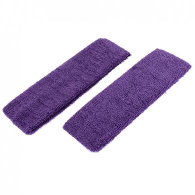 uxcell® Elastic Terrycloth Woman Headband Sweatband 2pcs Purple