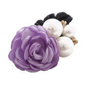 Hair Accessories,TOOPOOT Women Satin Ribbon Rose Flower Pearls Ponytail Hair band