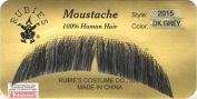 Basic Character Moustache DARK GREY - 100% Human Hair - no. 2015 - REALISTIC!
