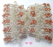 Lovef Magic Hair Beauty Decoration Comb Mixed Beads Flower Rose Hairpin Bow Lady
