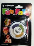 Kryolan Washable Face Paint Mardi Gras Kit