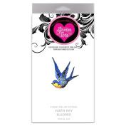 SweetTats Earth Day Bluebird Wrist Temporary Tattoo Pack - 6 Tattoos per Pack