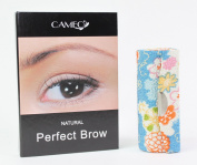 1 Blue Flower Lipstick Case + 1 Cameo Cosmetics Natural Perfect Brow