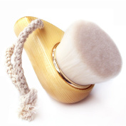 High-Quality Gold Ring Manually Cleansing Brush Wooden HandleWash Brush Makeup Brush