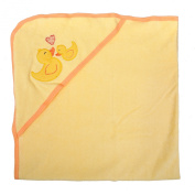 Tadpoles Cotton Embroidered Hooded Towel, Duck