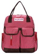 HuggyHug Original Mommy Fashion Nappy Baby Bag, Stroller Organiser Tote, . Red