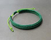Handmade Friendship Crochet Bracelet Dark Green