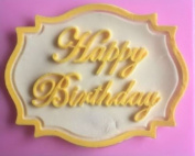 Silicone Mould Making Kit Happy Birthday Plaque Silicone Mould for Fondant, Gum Paste, Chocolate, Crafts, Silicone Mould Cake Decorating