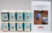 Duncan INKIT-4 Envision Celadons Glaze Kit for Ceramics - Set of 8 Best Selling Colours in 120ml Jars with Free How to Paint Ceramics Booklet