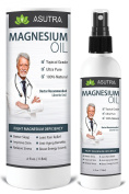 Pure Zechstein Magnesium Oil Spray - Triple Filtered for LESS ITCH & LESS STING / Effective Rapid Transdermal Absorption - Ultra Pure & Potent + FREE Magnesium E-Book