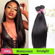 Isee Hair 6a Malaysian Straight Hair 3 Bundles Virgin Unprocessed Human Hair Wefts 300 Grammes Hair Extensions Deal With Mixed Lengths 12 14 41cm