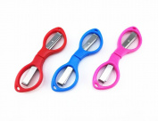 Yueton 3pcs Colourful Plastic Handle Folding Safety Scissors