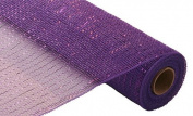 Deco Poly Mesh - Metallic Purple 50cm Roll