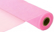 Deco Poly Mesh - Solid Pink 50cm Roll