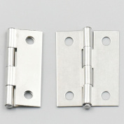 Bluemoona 20 Pcs - Cabinet Drawer Door Stainless Steel Butt Hinges Furniture Hardware With Screws 27x35mm