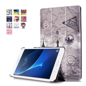 Galaxy Tab A 7.0 Folio Case -SAVYOU Painted Ultra Slim PU Leather Folding Case Cover Stand for Samsung Galaxy Tab A 7.0 SM-T280 / T285(2016) Vintage Tower