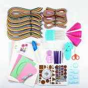 Quilling Paper Set Colour Paper Drawing Material Package Beginners Learning Tool
