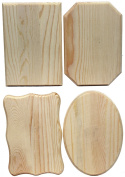 Creative Hobbies® Unfinished Wood Plaques, 17cm x 11cm , 4 Assorted Shapes