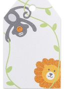 Jungle Animal Baby Shower Birthday Gift Tags 5.1cm - 0.6cm x 8.9cm - 50pack