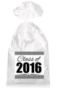 Class of 2016 Graduation Party Birthday Party Favour Bags with Ties - 12pack